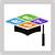 BEST online courses icon with grad cap