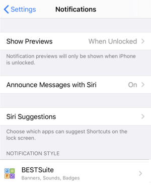 iOS Notifications — Show Previews