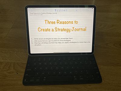 Three Reasons to Create a Strategy Journal