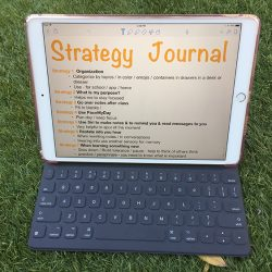 Create a strategy journal